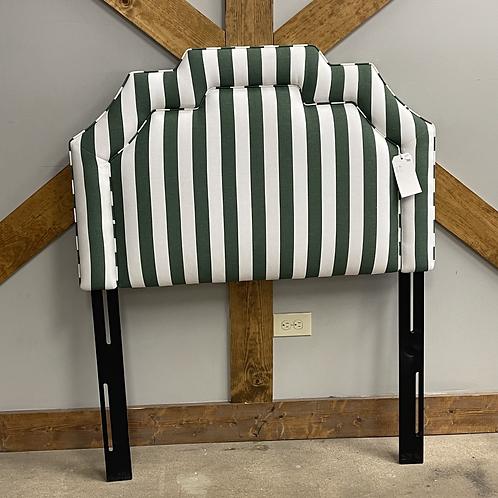 Green Striped Twin Headboard