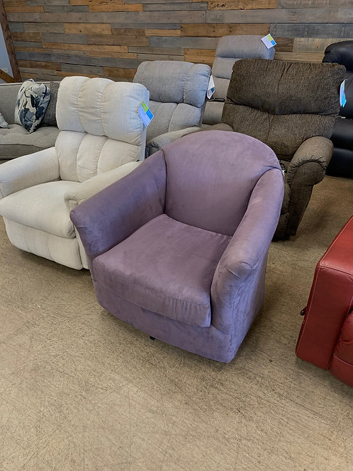 Lavender Swivel Chair