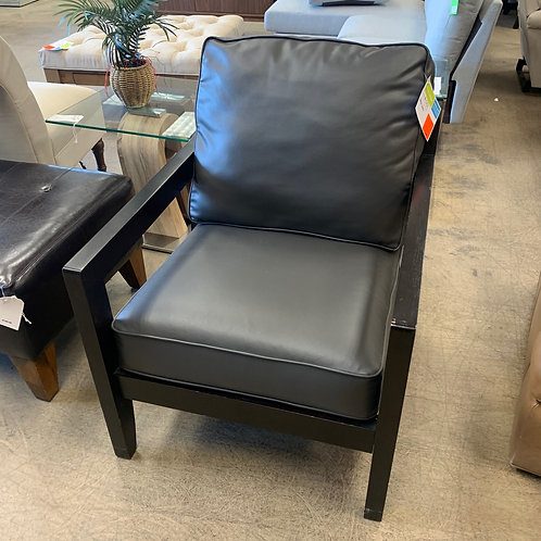 Charcoal Leather Chair