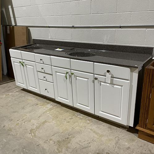 2 Piece Double Sink Bathroom Vanity w/ Countertop