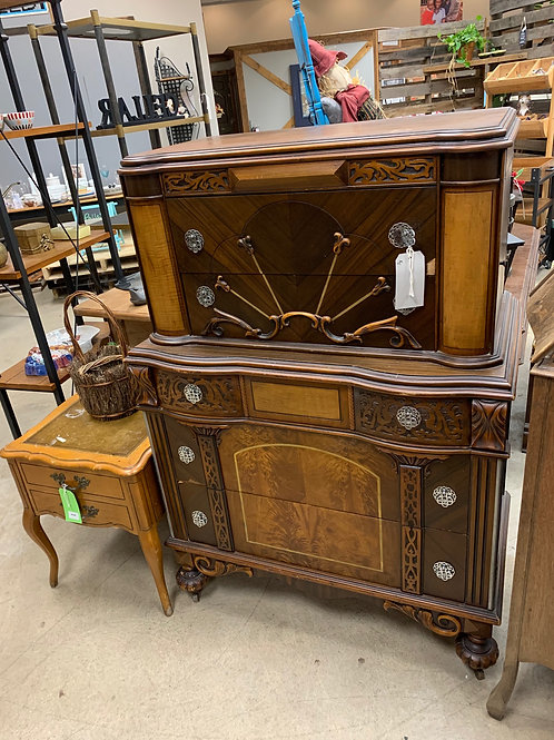 Antique Ornate Wood Chest