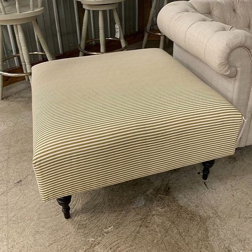 Pinstriped Cocktail Ottoman