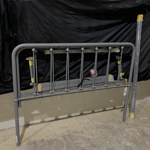 Full Size Grey Metal Bed