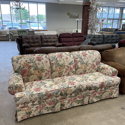 White Floral Couch