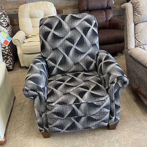 Grey Fabric Push Recliner