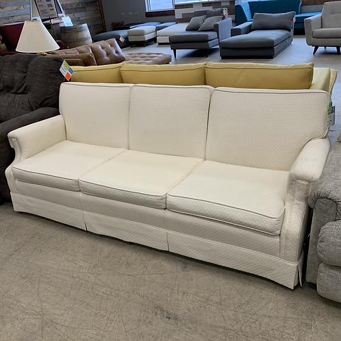 Off-White Vintage Fabric Sofa