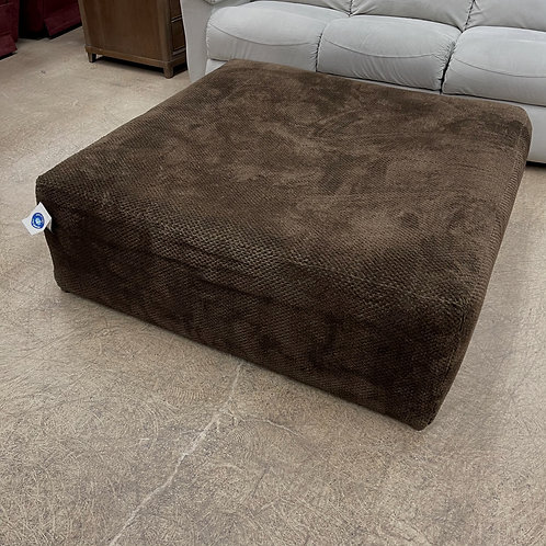 Brown Fabric Oversized Ottoman