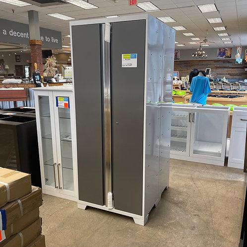 NewAge White & Charcoal Multi Use Lockers