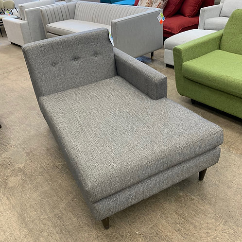 Grey Fabric Chaise