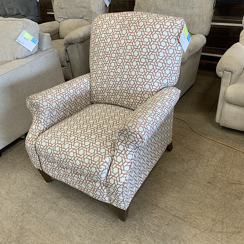Patterned Fabric Push Back Recliner