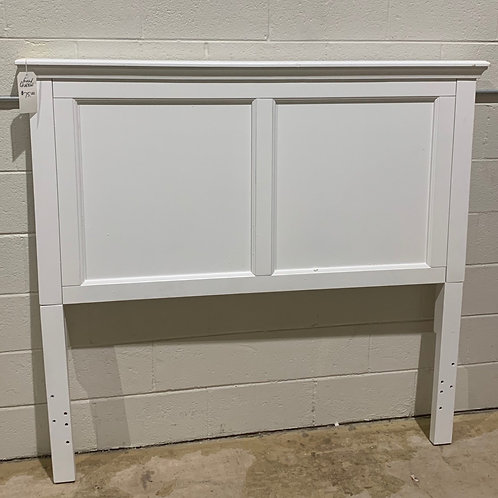Full/Queen White Wood Headboard