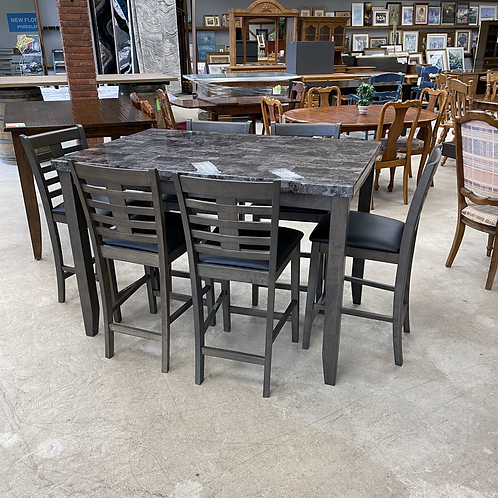 Marble Table + 6 Chairs
