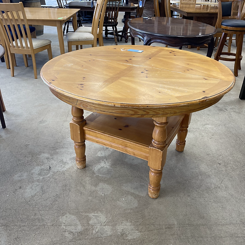 Distressed Round Wooden Kitchen Table
