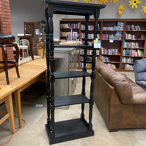 Traditional Black Bookcase