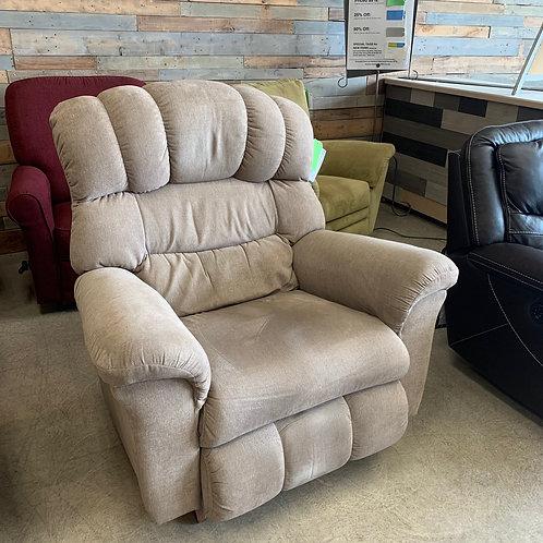 Beige Fabric Rocker Chair