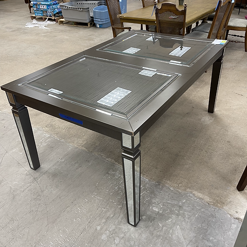 Silver & Glass Dining Table
