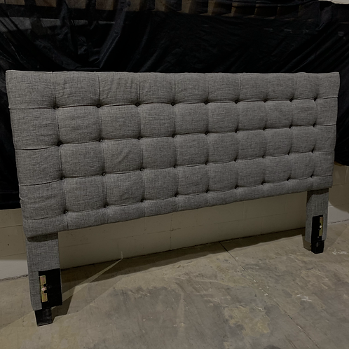 King Charcoal Tufted Headboard
