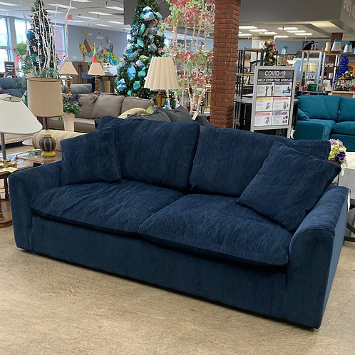 Blue Fabric Couch