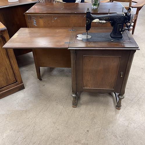 White Rotary Sewing Machine Desk