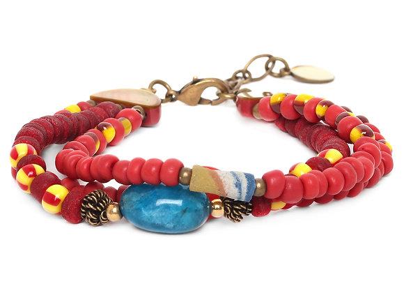 Uluwatu bracelet 3 rangs