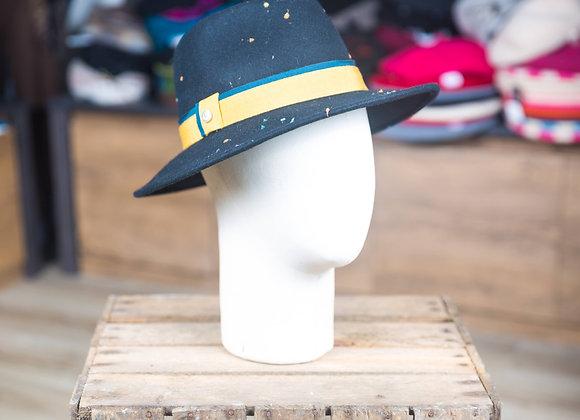 Chapeau feutre moucheté