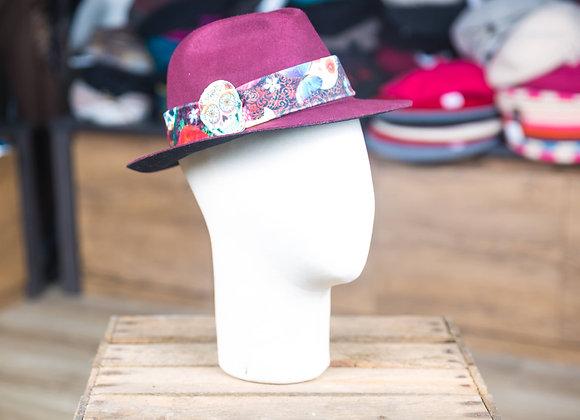 Petit chapeau ruban tête de mort