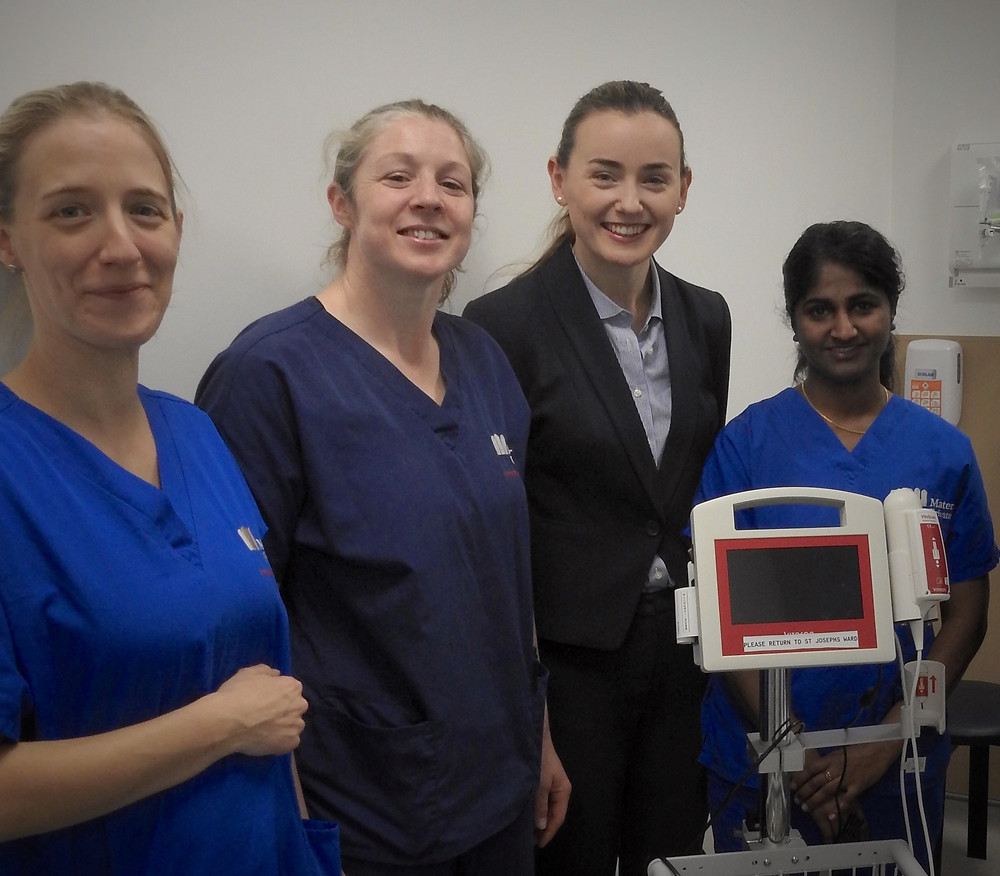 The team in the Mater Private Hospital take delivery of their new bladder scanner