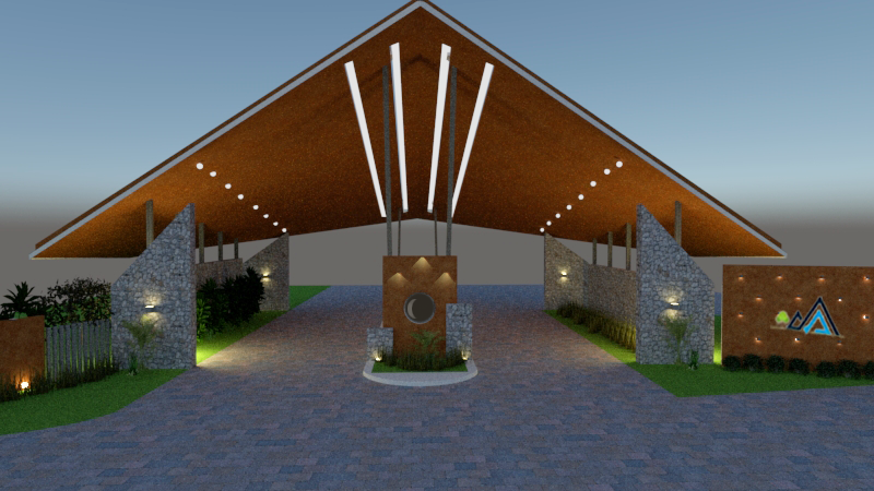 Entrance gateway design