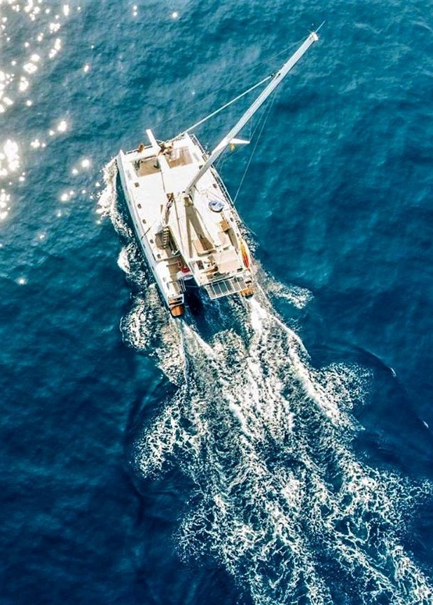 Catamaran Whale Watching Sailing East Giant's Loops