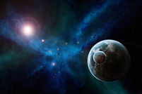 A planet in space