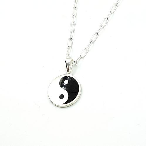 925 Ayar Gümüş Ying Yang Kolye