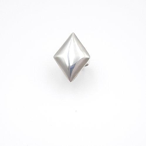 925 Ayar Gümüş Geometrik Şekilli  Özel Tasarım El Yapımı Yüzük
