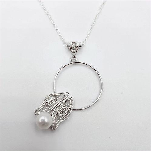 1000 Ayar Gümüş Özel Tasarım Telkari Kolye