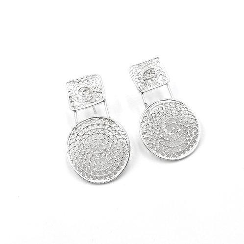 1000 Ayar Gümüş Özel Tasarım Telkari Küpe