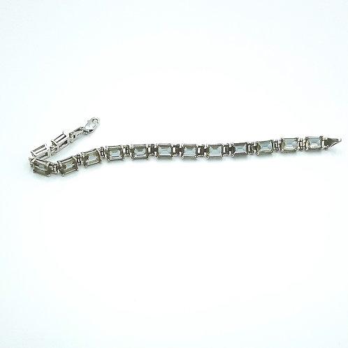 925 Ayar Gümüş Zultanit Baget Taşlı Tam Tur Bileklik