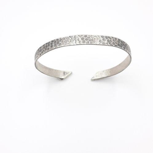 925 Ayar Gümüş El işi Dövme Kadın Erkek Unisex Kelepçe Bileklik