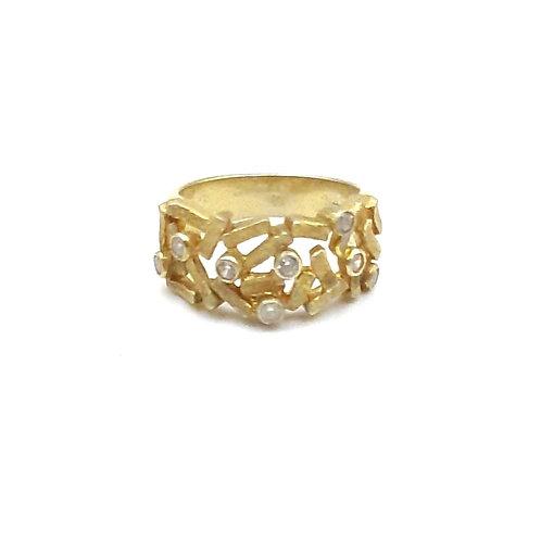 925 Ayar Gümüş Zirkon Doğal Taşlı Özel Tasarım Yüzük