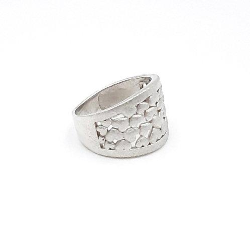 925 Ayar Gümüş Kalp Figürlü Özel Tasarım Yüzük