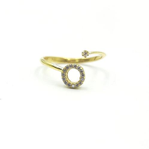 925 Ayar Gümüş Zirkon Doğal Taşlı Eklem Yüzüğü