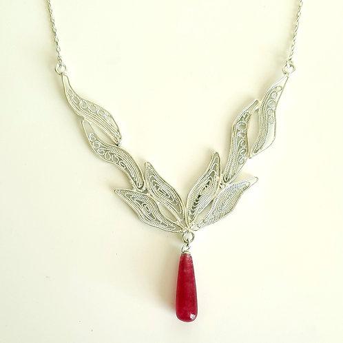 1000 Ayar Gümüş Telkari Özel Tasarım Kolye