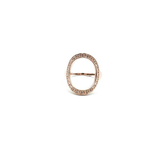 925 Ayar Gümüş Tamtur Zirkon Doğal Taşlı Oval Yüzük