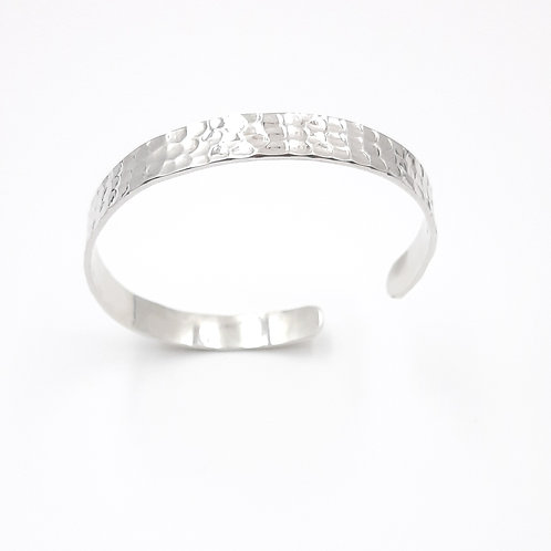 925 Ayar Gümüş El işi Dövme Unisex Kelepçe Bileklik