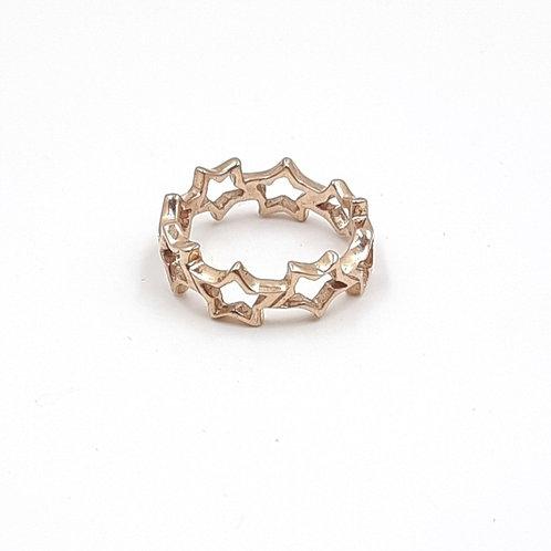 925 Ayar Gümüş Yıldız Figürlü Özel Tasarım Yüzük