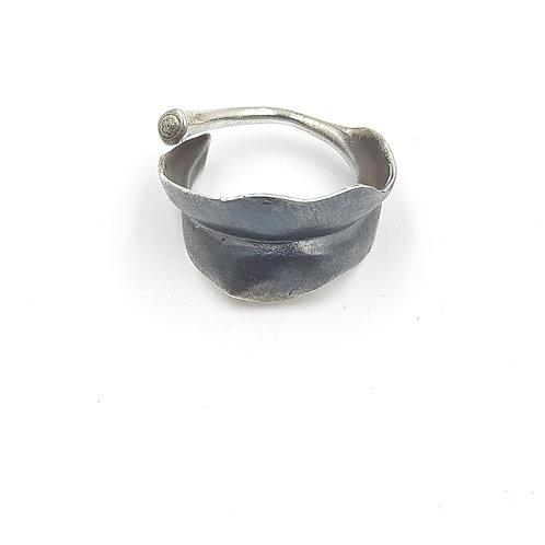 925 Ayar Gümüş Yaprak Figürlü Özel Tasarım Yüzük