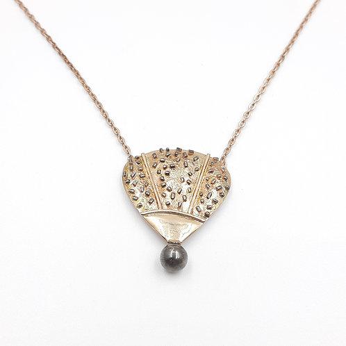 925 Ayar Gümüş Balon Figürlü Siyah Gümüş Toplu Özel Tasarım El Yapımı Kolye