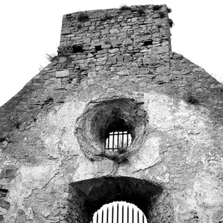 St Canice's Abbey Roof B/W image