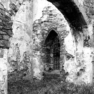 St Canice's Abbey B/W image