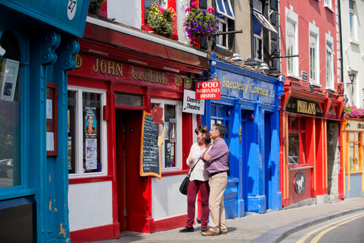 Pubs on Parliament street, Kilkenny, Ireland