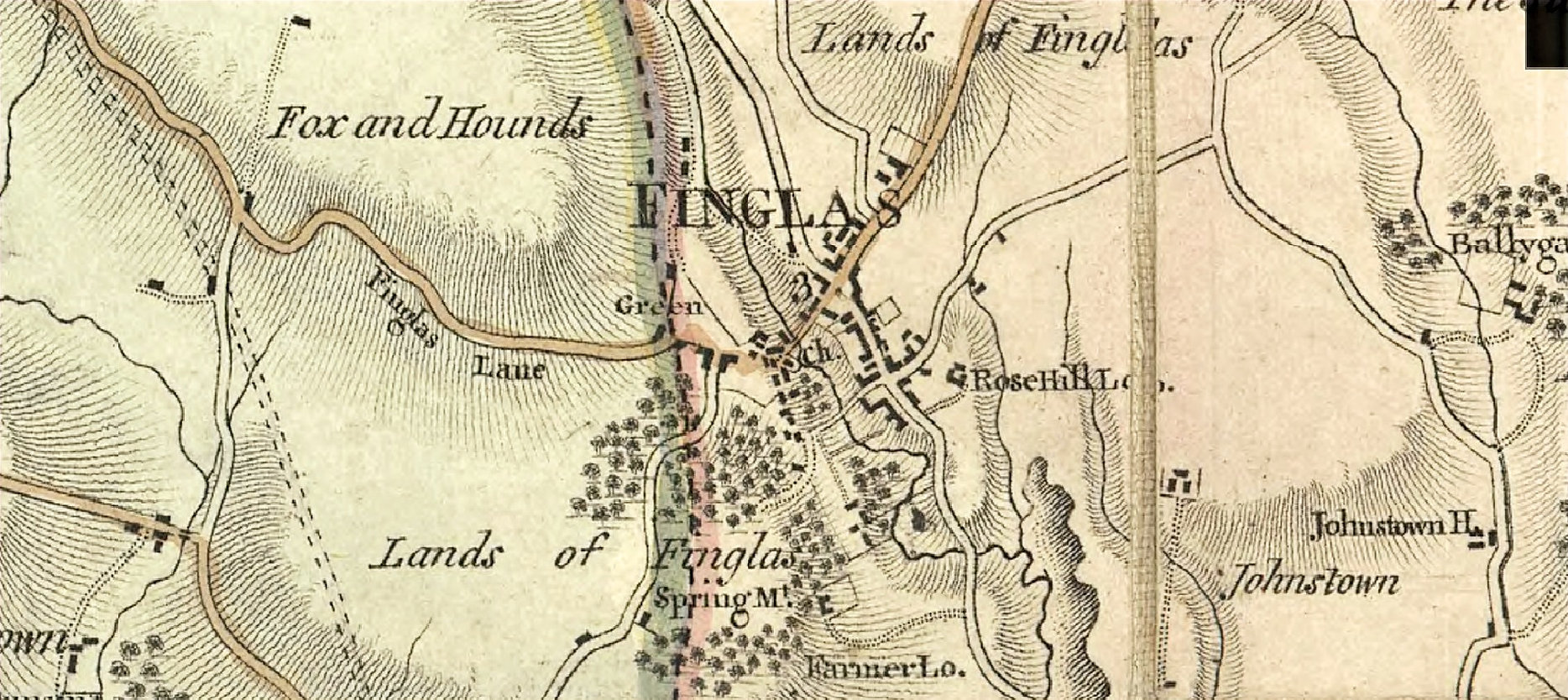 1816 Old Map Of Finglas