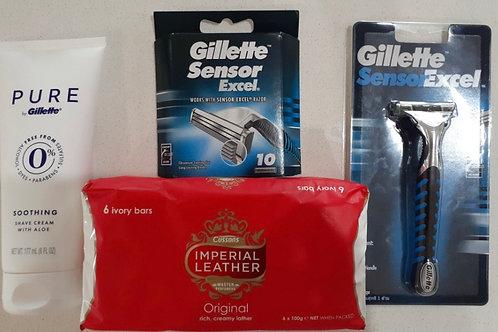 Men's Bathroom Starter Pack (Razor & cartridges included)